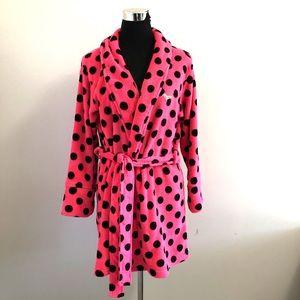 Pink Victoria's Secret plush robe